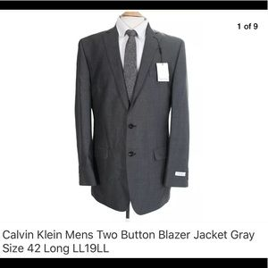 Calvin Klein Mens Two Button Blazer Jacket